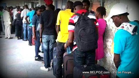Breaking News: Haiti Airport overloaded with young Haitians going to Chile