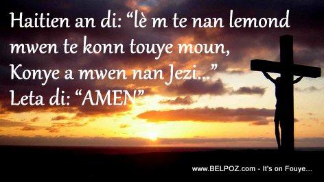 Men Bon Levanjil - Haitien an di: Lem te nan lemond mwen te konn touye moun, konye a mwen aksepte Jezi...
