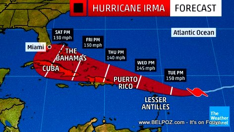 Hurricane Irma : Haiti Forecast Update : IRMA will Hit Haiti hard