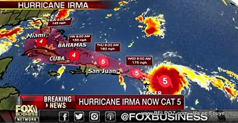 Hurricane Irma is the Strongest Hurricane EVER in the Atlantic outside the Caribbean sea or the Gulf of Mexico