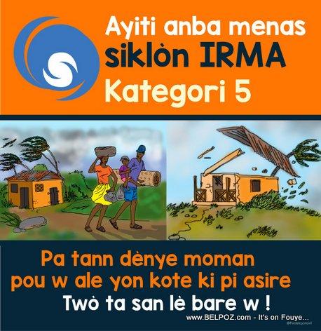 Ayiti anba Menas Sikòn IRMA - Kategori 5