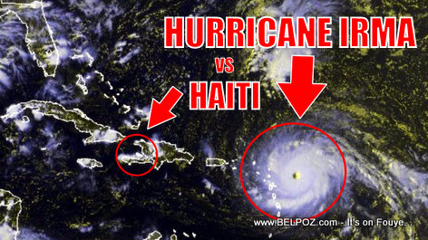 PHOTO: Size of Hurricane IRMA vs Size of HAITI - We are in Trouble!
