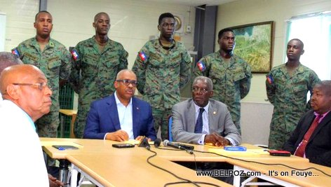 Haiti Prime Minister and Army Corp of Engineers