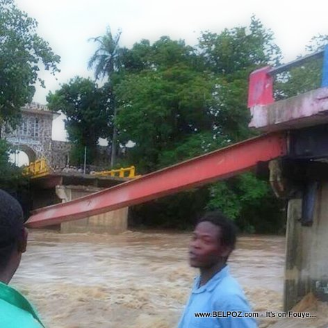 PHOTO: Haiti - Old Historic Bridge between Ouanaminthe and Dajabon Collapses - Hurricane Irma