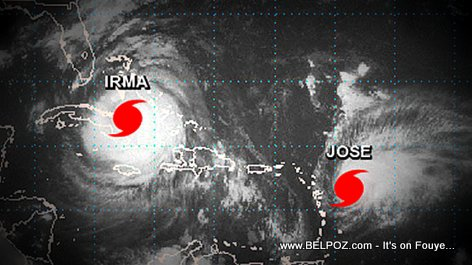 PHOTO: Both Hurricane Irma and Hurricane Jose in the Caribbean