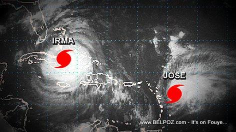 PHOTO: Both Hurricane Irma and Hurricane Jose in the Caribbean