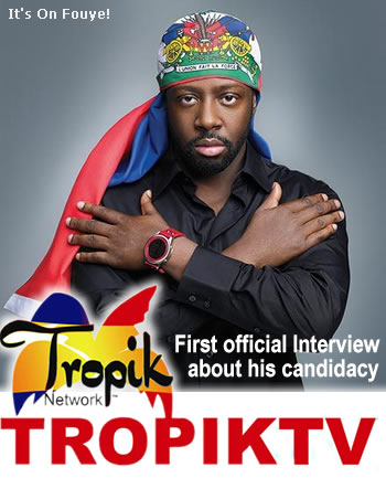 Wyclef Jean First Candidacy Interview On Tropik Radio
