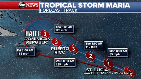 Hurricane Maria - Haiti Forecast (ABC News)