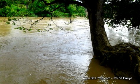 Hinche Haiti - Guayamounco River Flooded after Hurricane Maria