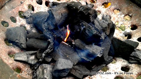 Haiti: Sanble Dife, Chabon Bwa - Charcoal burning
