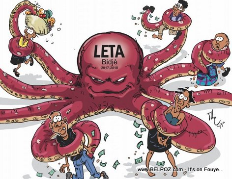 Caricature: Haiti's Government Budget, it's like an Octopus