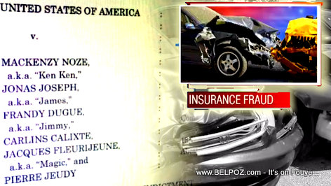 Car crash insurance fraud scheme case in Norwich Connecticut