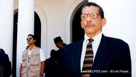 PHOTO: Former Haiti Chief of Police Pierre 'Pierrot' Denize at Haiti National Palace
