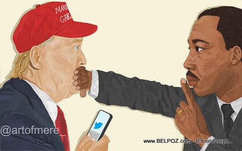 VIRAL Haitian Art: Martin Luther King tells President Donald Trump to Shut UP