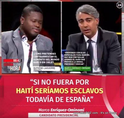 Marco Enriquez-Ominami: Si no fuera por Haiti, seriamos esclavos todavia de Espana