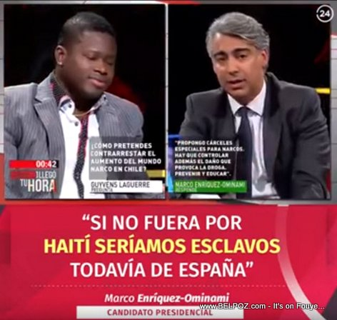 Marco Enriquez-Ominami: Si no fuera por Haití, seríamos esclavos todavía de España
