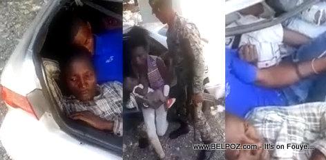 PHOTO: 16 Haitians in a 5-passenger car caught entering the Dominican Republic