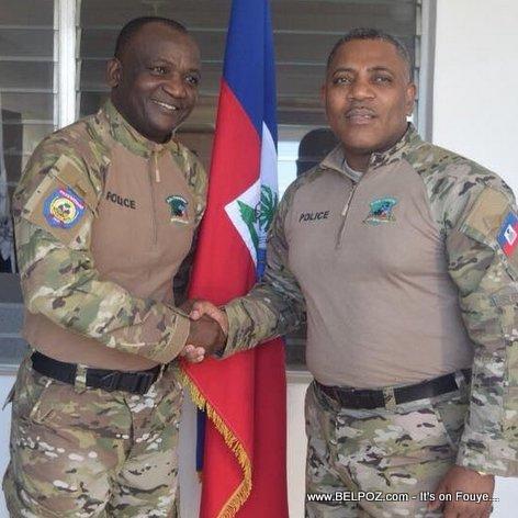 POLITFONT Haiti - Police DG Michel-Ange Gedeon in Haitian Border Police uniform