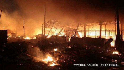 Haiti's Iron Market (Marche en Fer) Burned to the Ground