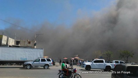 Haiti - FIRE in another Marché in Port-au-Prince