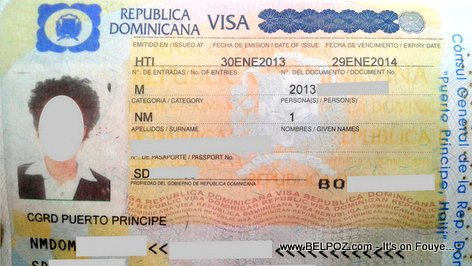 PHOTO: Republica Dominicana VISA on a Haitian Passport