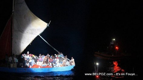 PHOTO: Haitian Boat People Intercepted by the U.S. Coast Guard