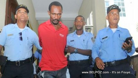 PHOTO: Haitian National Guerno Touloute in the Hands of Dominican Police accused of Murder