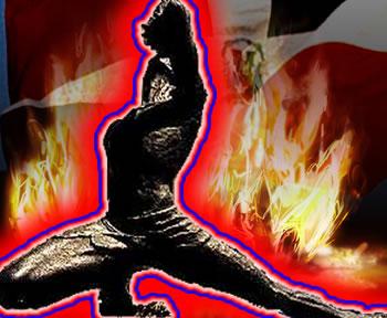 Haiti Neg Mawon Dominican Flag On Fire