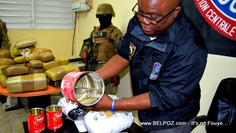 Haiti Drug Bust - BLTS seizes drugs hidden in cans of Tomato Paste