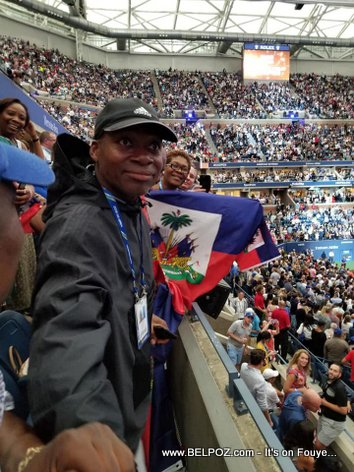 PHOTO: Naomi Osaka's Father, Leonard Maxime Francois, at the 2018 US Open Finals
