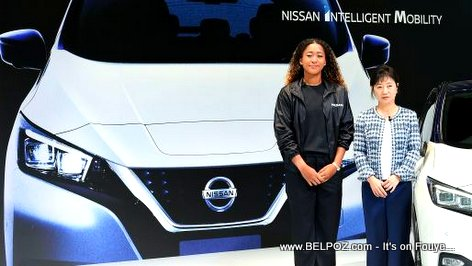 PHOTO: Naomi Osaka at a press conference at Nissan Global Headquarters in Yokohama, Japan.