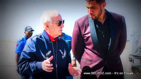 PHOTO: Charles Aznavour and Olivier Martelly in Haiti