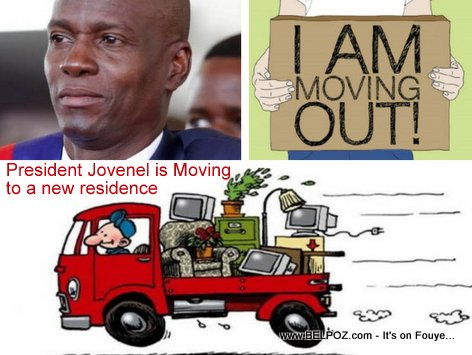 President Jovenel Moise moved out of his residence in Pelerin 5