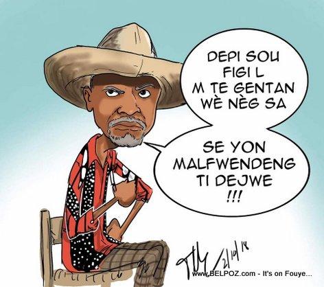 Tonton Bicha caricature depicts Yves Leonard, the