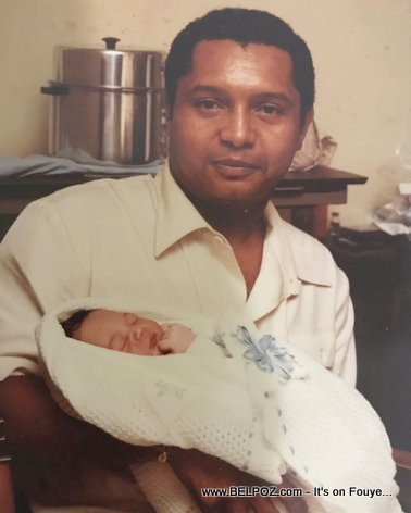 PHOTO: Haitian President Jean-Claude Duvalier holding his newborn baby Nicolas-Francois Duvalier