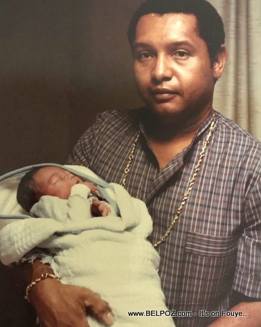 PHOTO: Jean-Claude Duvalier holding his baby son Nicolas-Francois Duvalier days after his birth