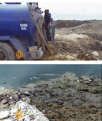 Dumping of Human Wasted In Haiti Landfill