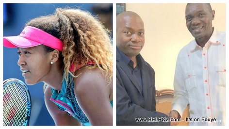 PHOTO: Naomi Osaka, her Haitian Father, and Haiti Senate President Joseph Lambert