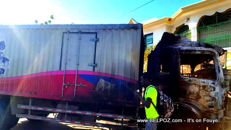 Haiti Government EDE PEP food truck burned down and vandalized in Montrouis