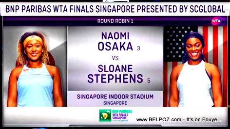 2018WTA Finals - Naomi Osaka vs Sloane Stephens