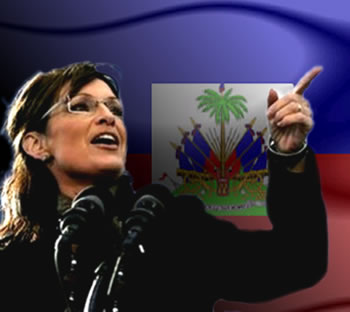 Sarah Palin in Haiti