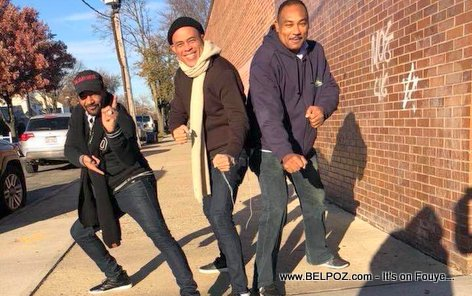PHOTO: Jojo Lorquet, ex-president Michel Martelly and Roro Nelson chilling in the USA