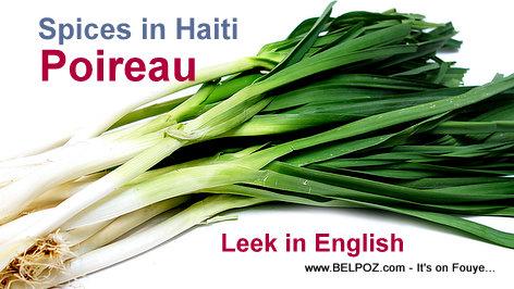 Spices in Haiti: Poireau (Leek in English)