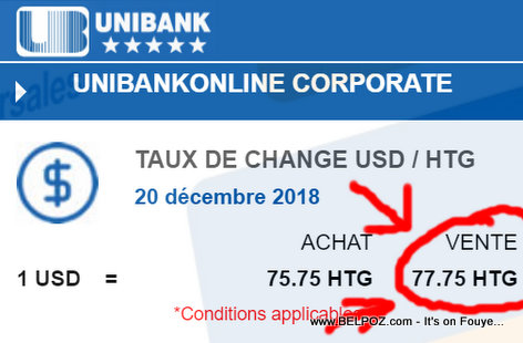Unibank Haiti Taux De Change - Haiti Currency Exchange Rate