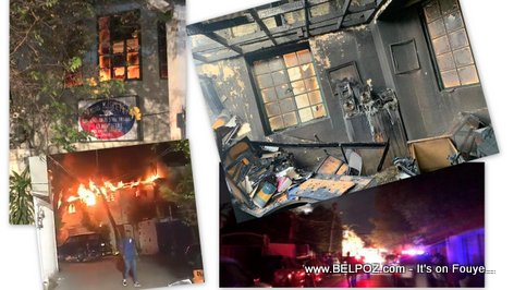 PHOTO: Haiti Radio Kiskeya destroyed by Fire