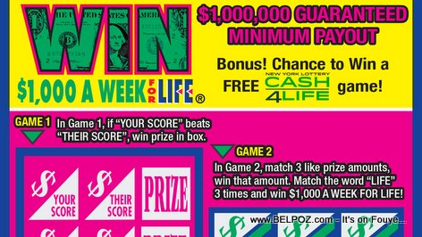 New York Lottery Win for Life winning ticket, someone beat me to it!