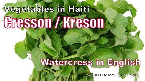 Vegetables in Haiti - Cresson / Kreson (watercress in English)