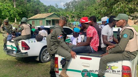 PHOTO: Haitians arrested in the Domincian Republic