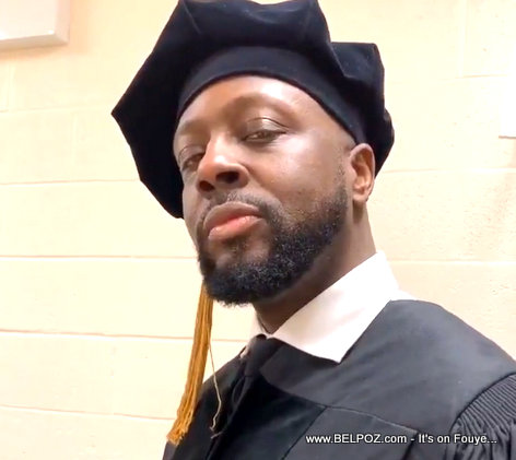 PHOTO: Wyclef Jean in graduation Uniforms