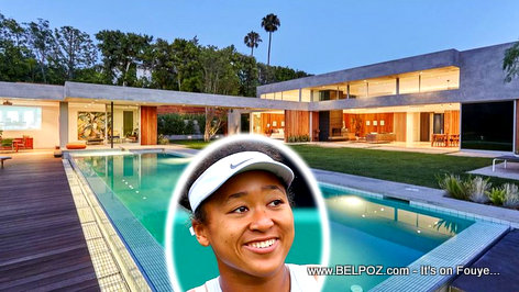 Naomi Osaka's 6.91 million dollar mansion in Bervelly Hills, California